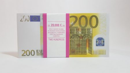 200 Euro fake money notepad
