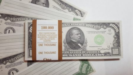 1000 US-Dollar fake money notepad