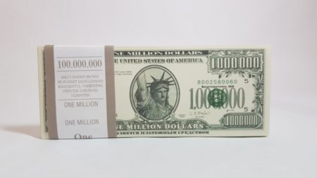 1 million US-Dollar fake money notepad
