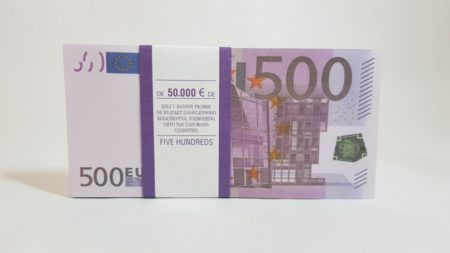 500 Euro fake money notepad