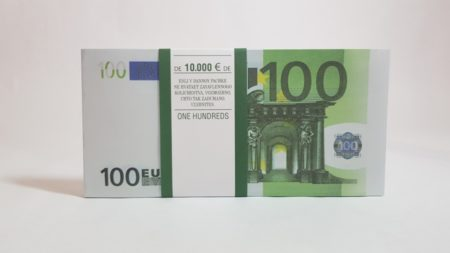 100 Euro fake money notepad