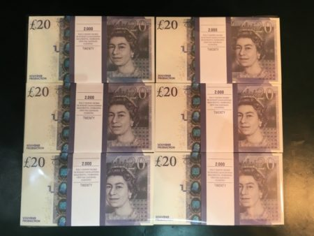 prop money packs of 20 pounds