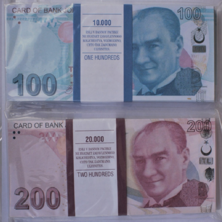 Kit prop money Turkish liras