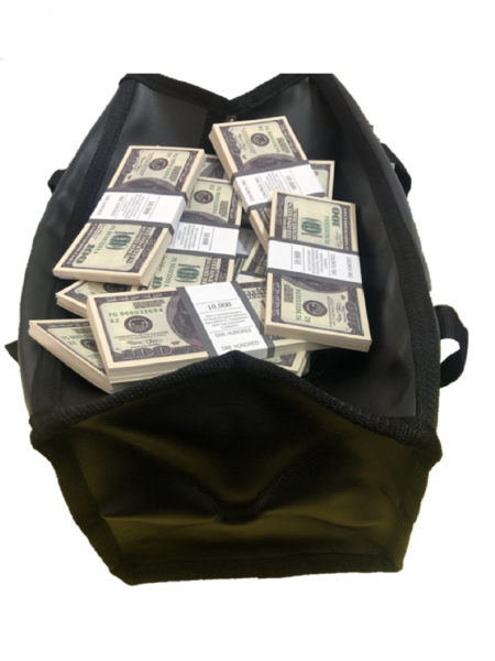 Bag of cash 100 US-Dollar