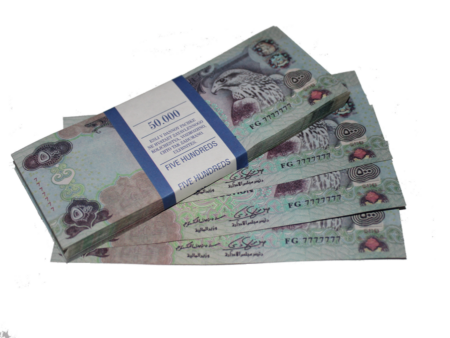 500 fake Arabian dirhams