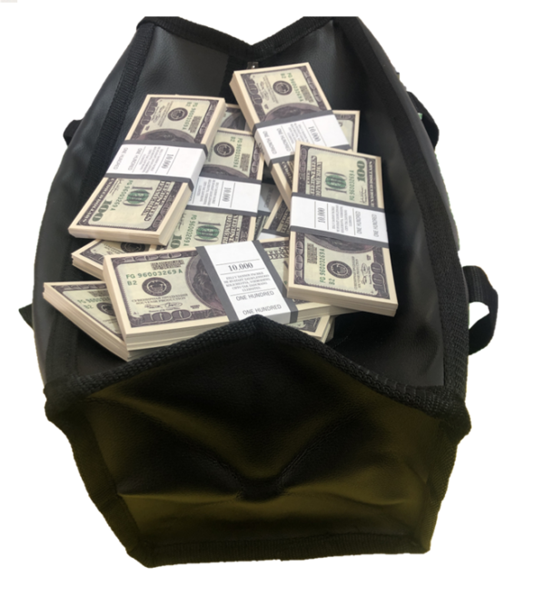 Bag of cash 100 US-Dollar (100 pcs)