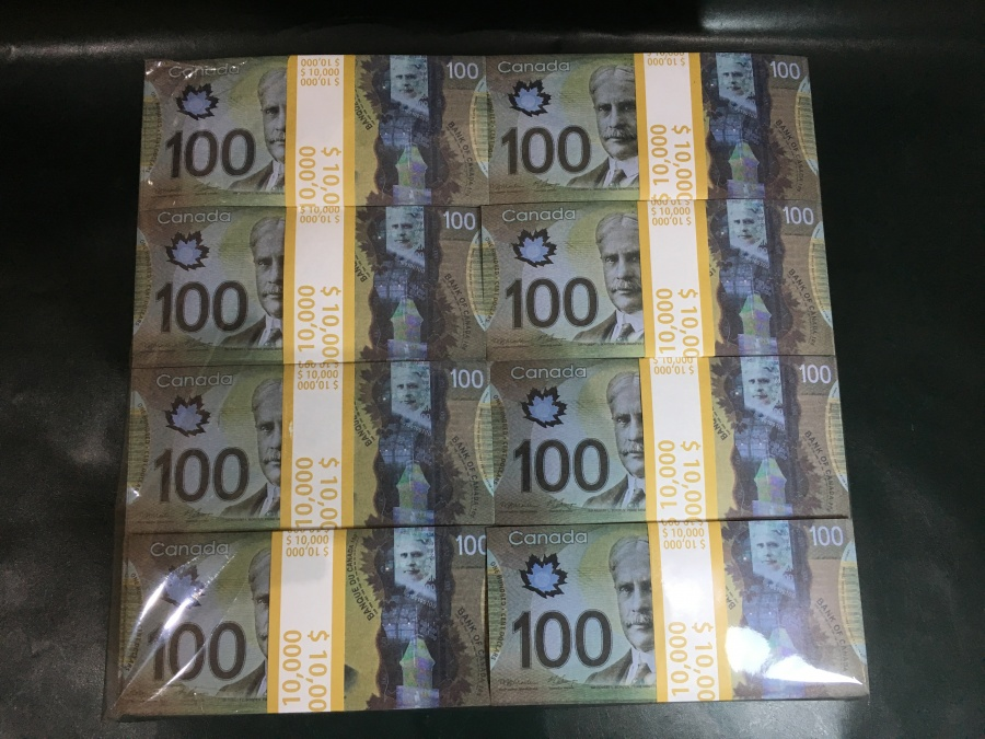500 prop money packs of 100 CAD