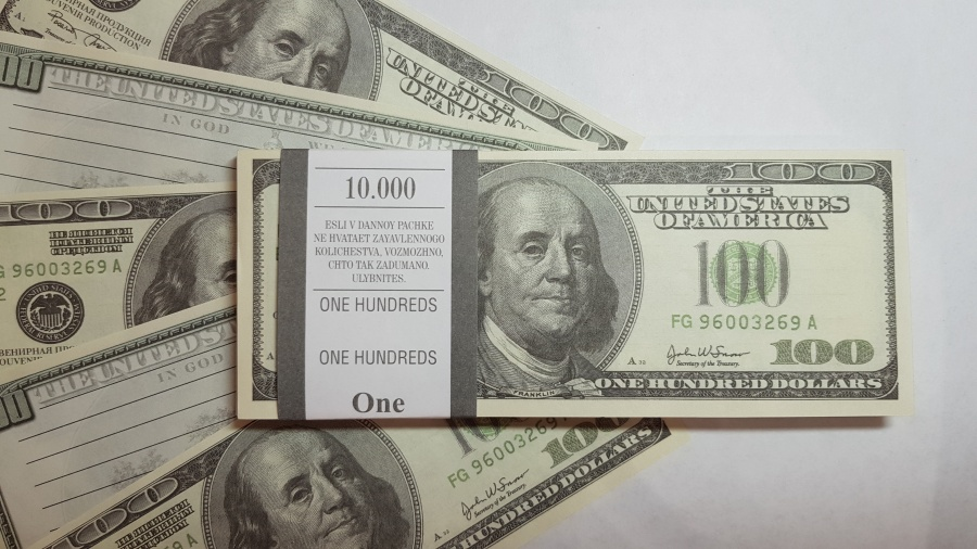 100 US-Dollar fake money notepad