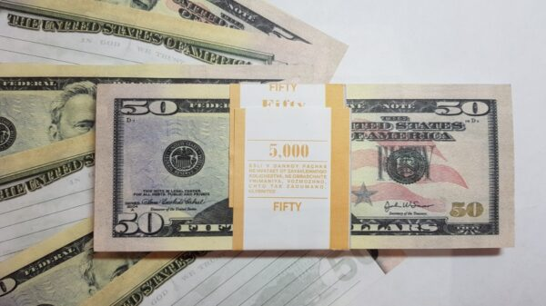 50 US-Dollar fake money notepad