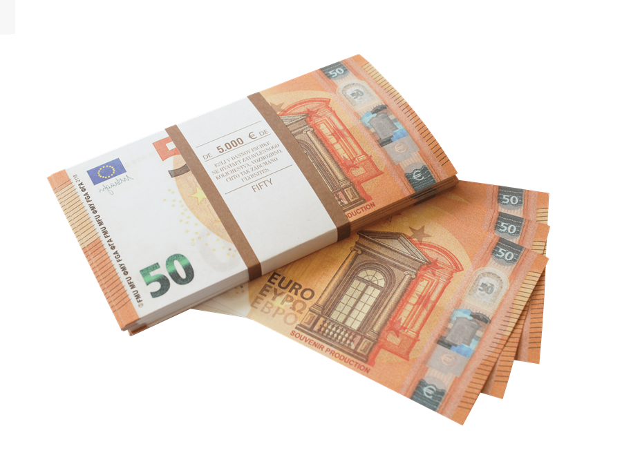 50 Euro prop money stack