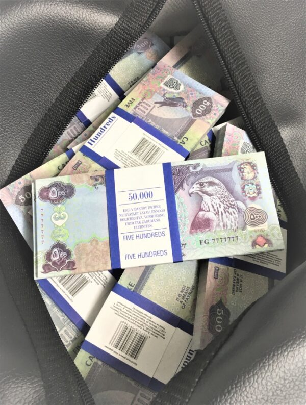 Bag of cash 500 Arab dirhams (50 pcs)