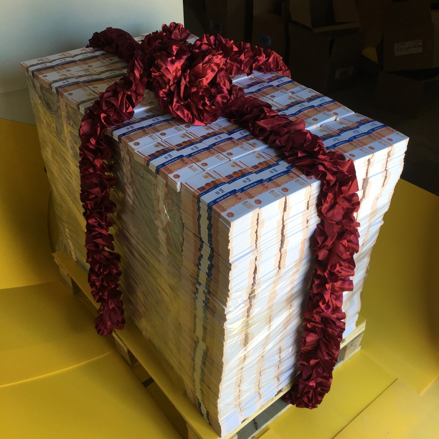 Pallet of cash 5000 RUB (3864 pcs)