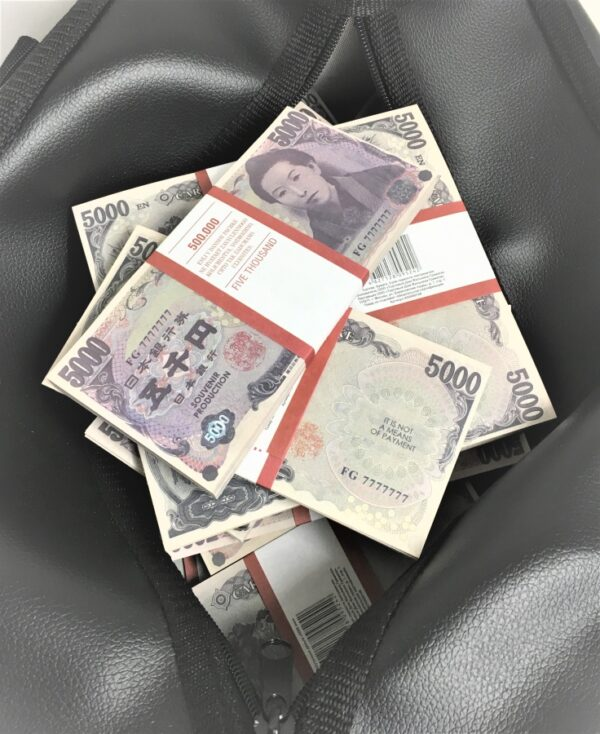 Bag of cash 5000 Japanese yen (50 pcs)