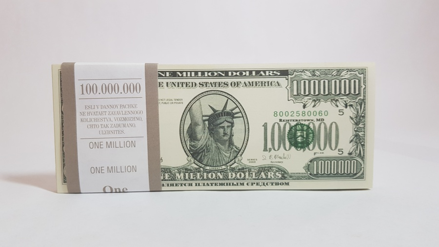 1000000 US-Dollar fake money notepad