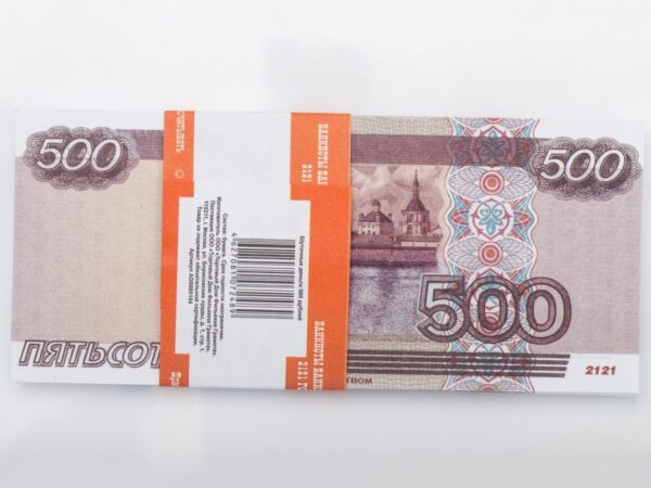 500 Russian rubles prop money stack