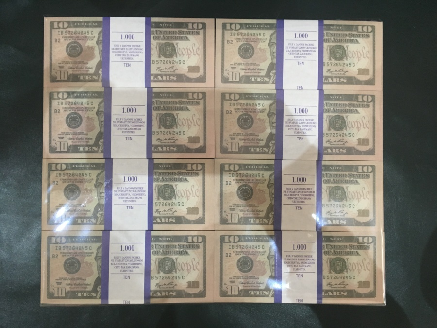 500 prop money packs of 10 US dollars