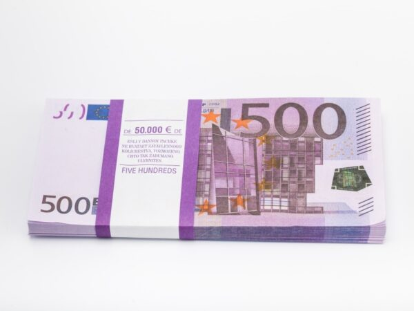 500 Euro prop money stack