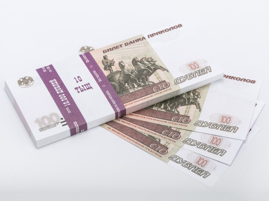 100 Russian rubles prop money stack