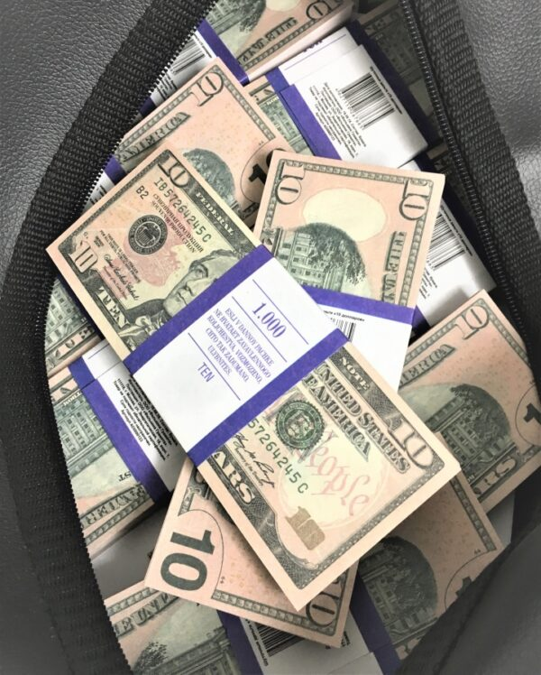 Bag of cash 10 US-Dollar (100 pcs)