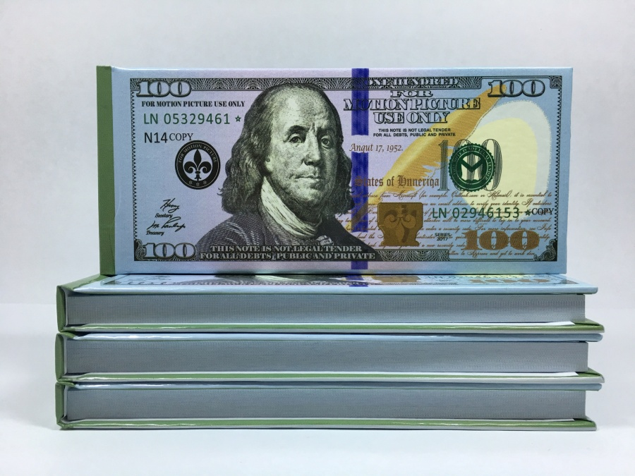 100 dollars (new) Tear-off notepad