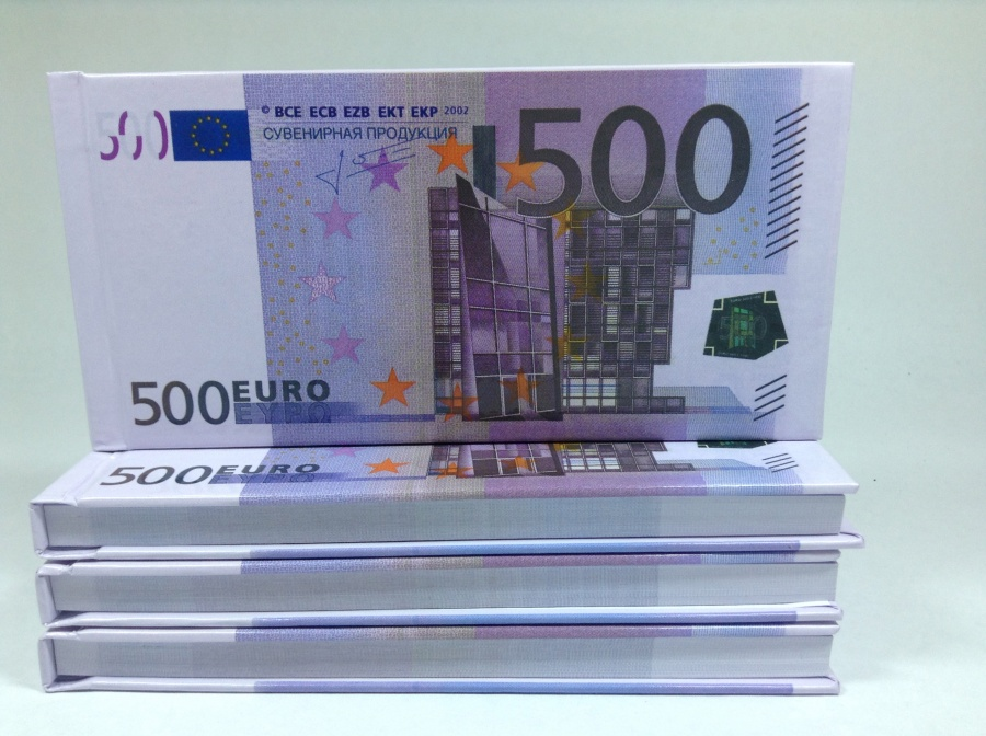 500 Euro Tear-off notepad