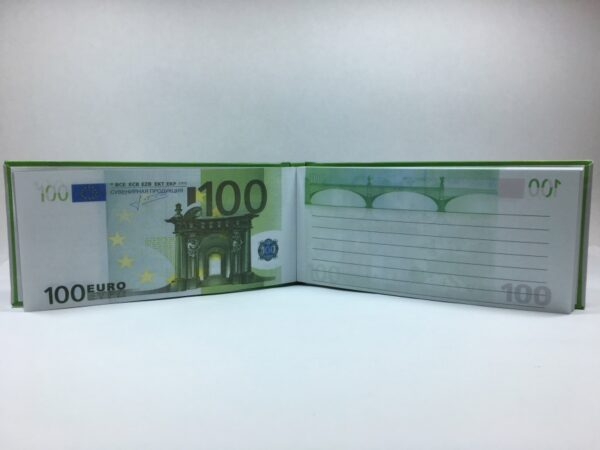 100 Euro Tear-off notepad