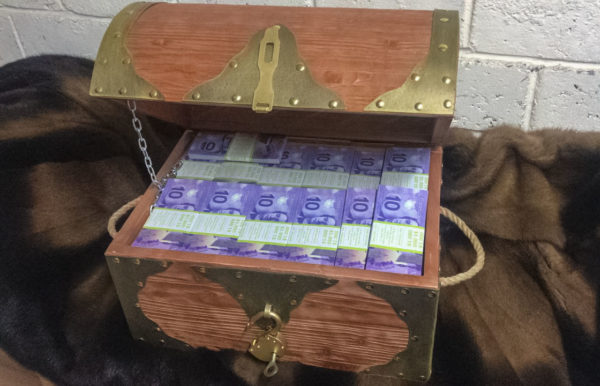 Buy 10 Canadian dollar Prop Money Pirate Chest