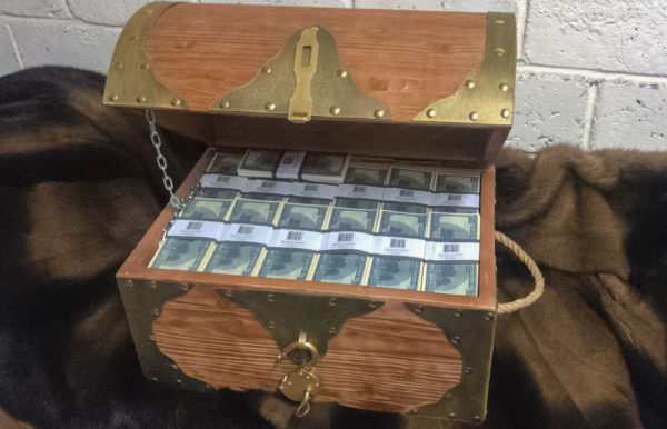 buy new 100 American dollars Prop Money Pirate Chest