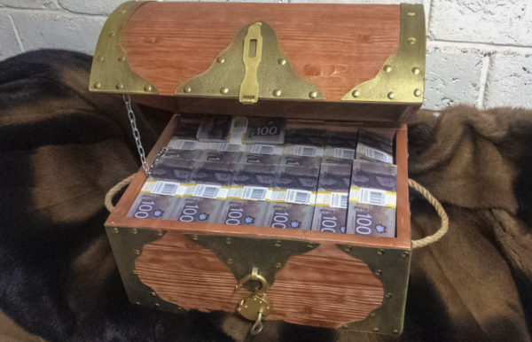 buy 100 Canadian dollar Prop Money Pirate Chest