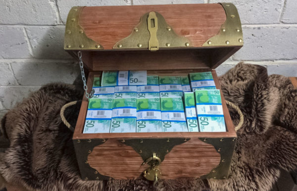 buy 50 Israel Shekels Prop Money Pirate Chest